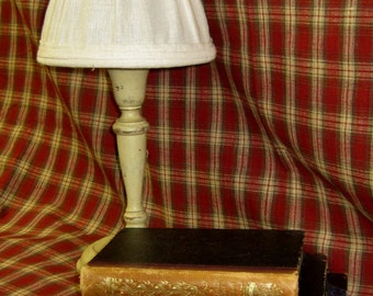 Schumacher Red and Taupe Woven Plaid Fabric