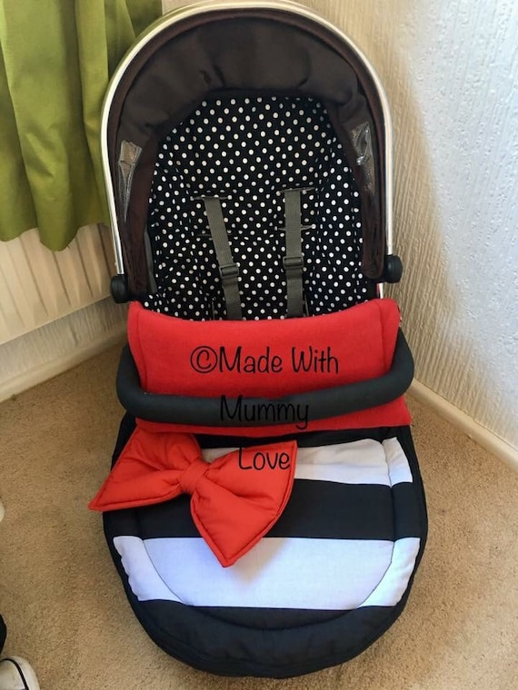 WHITE PRAM  COSYTOES FOOTMUFF BEAUTIFUL WHITE   WITH   LARGE  BOWS
