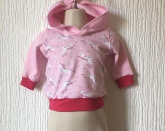 Unicorn Hoodie, Unicorn Sweater, Unicorn Jumper, Unicorn Jersey, Hooded Jumper, Childrens Jumper, Kids Jumper, Kids Clothing, Animal Jumper