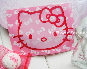 a0673d078d9a 100pcs pink hello kitty adhesive packaging bag candy chocolate soap bags  cellophane bag wedding party favor bag
