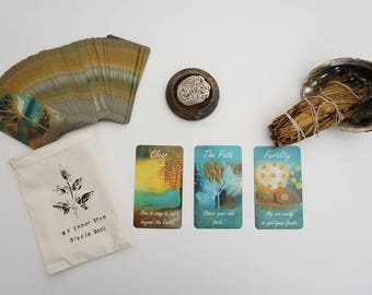 Oracle deck, my inner tree intuitive oracle deck, tarot cards
