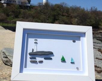 Sea glass art work