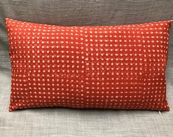 Cape Cottage Tomato/ Cream Rectangular Throw Pillow