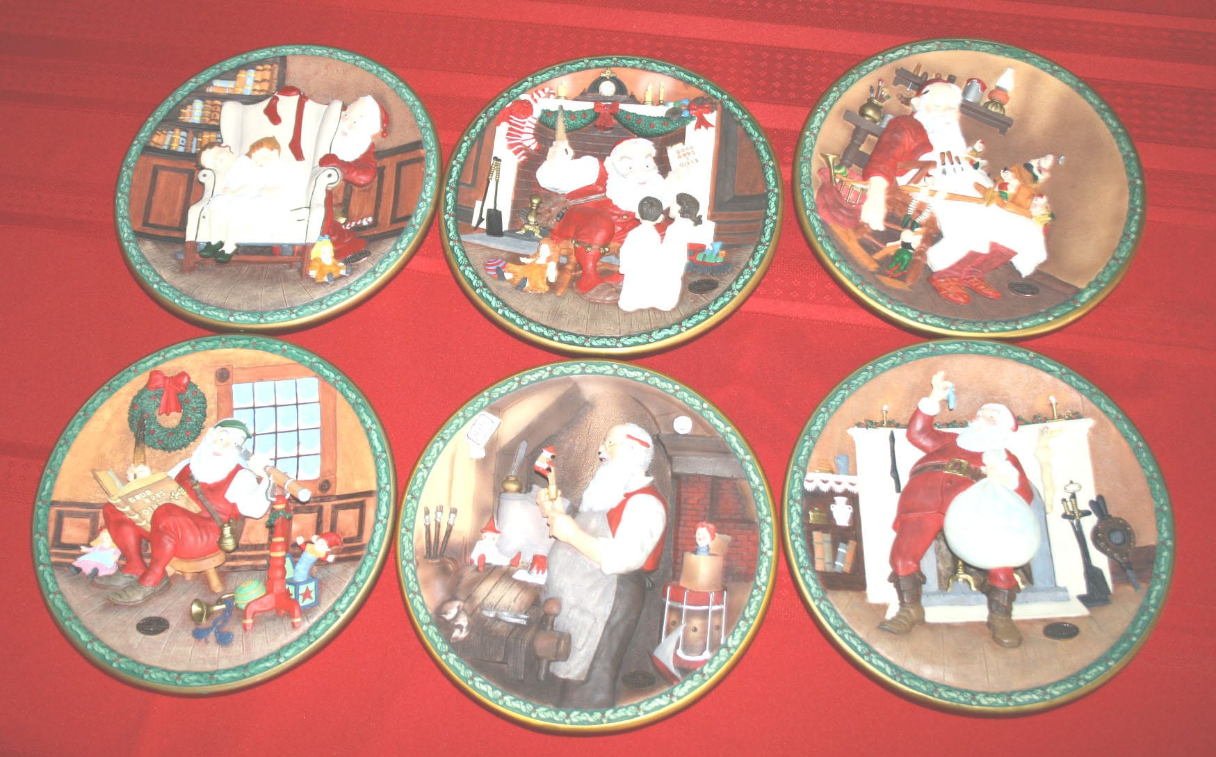 Norman Rockwell\'s Christmas Legacy Plates Set of 6 | Etsy