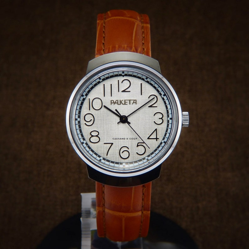 ed10caf6e24 Raketa NOS Soviet Watch From 70s raketa watch poljot de luxe