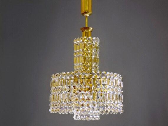 Kronleuchter Farbig ~ Kristall glas kronleuchter mit gold farbigen rahmen aus den etsy