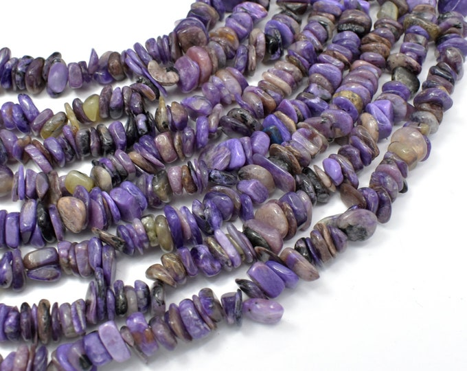 Charoite,  5mm-10mm Chips Beads, 15.5 Inch, Full strand, Hole 1mm (187005001)