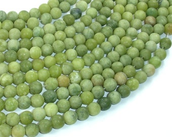 Matte Jade Beads, 6mm(6.5mm) Round Beads, 15 Inch, Full strand, Approx 62 beads, Hole 1 mm, A quality (287054042)