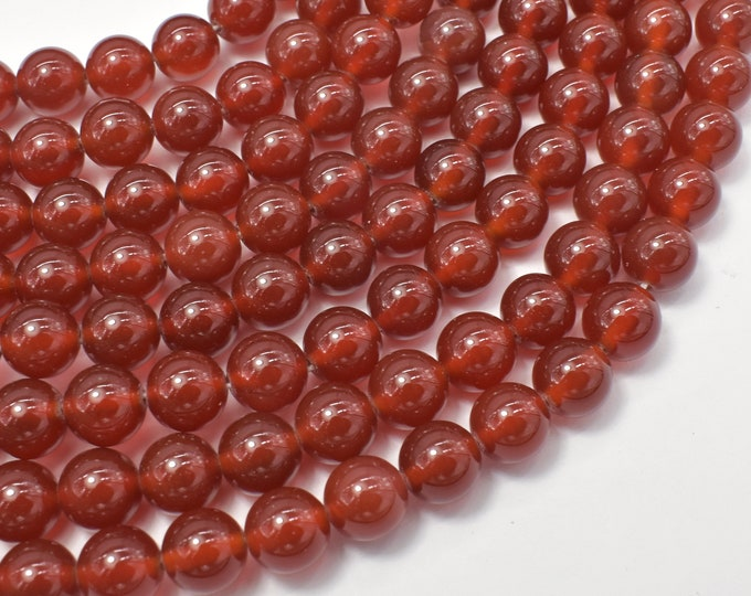 Carnelian Beads, Round, 8mm (8.3mm), 15 Inch, Full strand, Approx 48 beads, Hole 1mm, A quality (182054003)