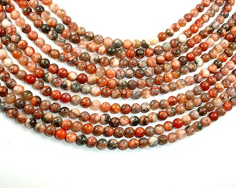Agate Beads, Round, 6mm, 16 Inch, Full strand, Approx 67 beads, Hole 1 mm (122054156)