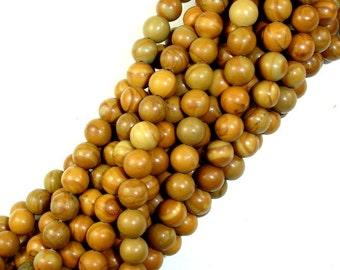 Wood Jasper Beads, Round, 6mm ( 6.3mm), 15.5 Inch, Full strand, Approx 66 beads, Hole 1 mm, A quality (437054003)