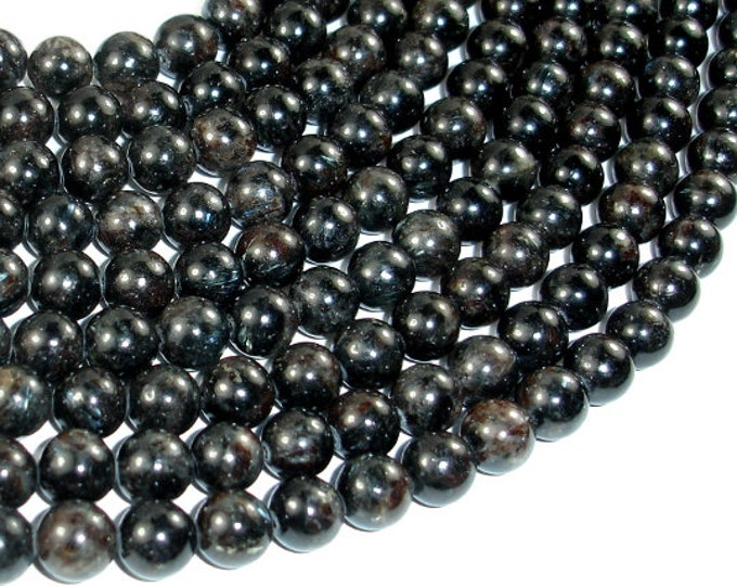 Astrophyllite Beads, 8mm Round Beads, 16 Inch, Full strand, Approx 50 beads, Hole 1mm, A quality (126054002)