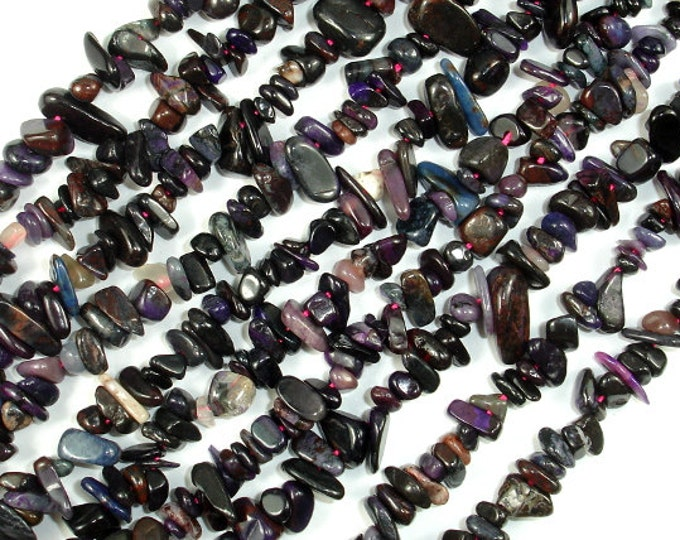 Sugilite Beads, Genuine Sugilite, 4mm-8mm Chips Beads, 15.5 Inch, Full strand, Hole 0.8mm (212005001)