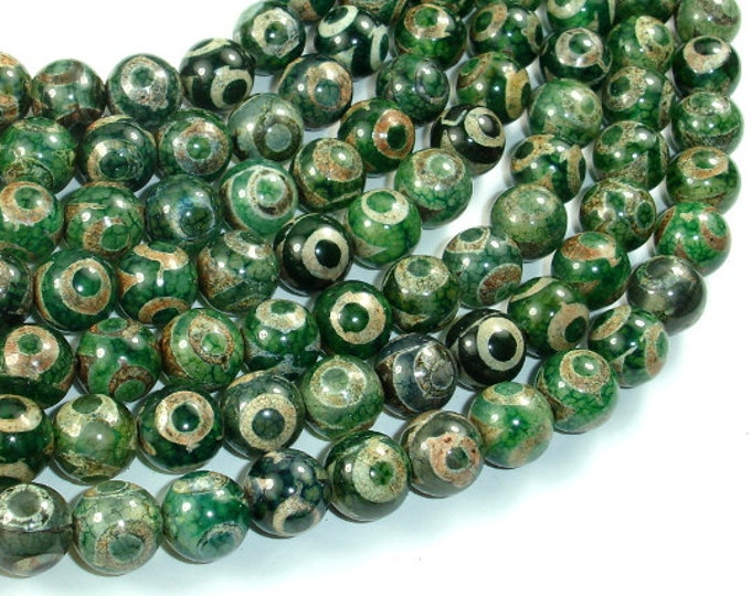 Tibetan Agate Beads, 10mm(10.5mm) Round Beads, 15 Inch, Full strand, Approx 38 beads, Hole 1mm, A quality (122054220)