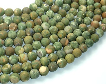 Matte Rhyolite Beads, 8mm(8.5mm) Round Beads, 15 Inch, Full strand, Approx 48 Beads, Hole 1 mm, A quality (387054014)