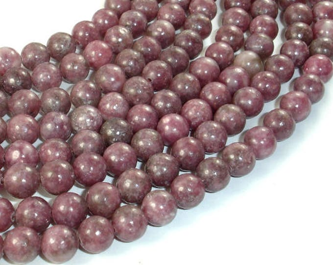 Featured listing image: Lepidolite Beads, 8mm(8.5mm) Round Beads, 15.5 Inch, Full strand, Approx 47 beads, Hole 1mm (297054004)