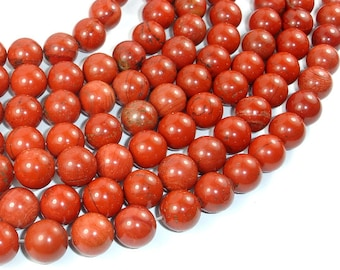 Red Jasper Beads, 12mm Round Beads, 15 Inch, Full strand, Approx 32 beads, Hole 1 mm (371054008)