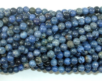 Dumortierite, 4mm (4.7mm) Round Beads, 16 Inch, Full strand, Approx 85 beads, Hole 0.8mm, A- quality (203054007)