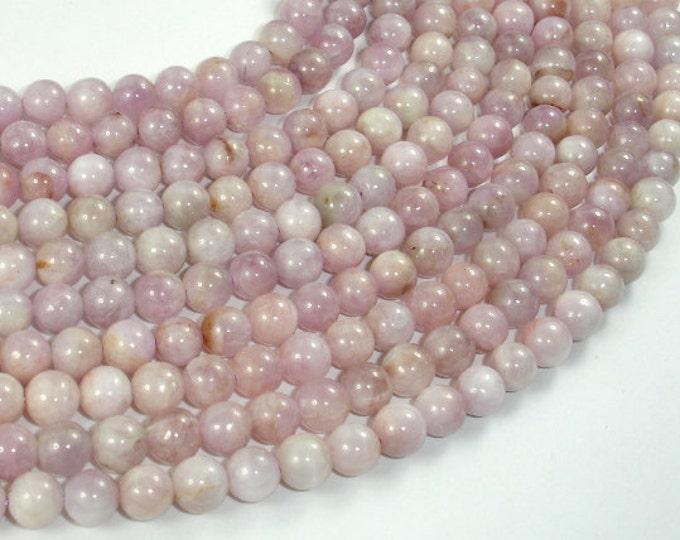 Kunzite Beads, 6.5mm (7mm) Round Beads, 16 Inch, Full strand, Approx 57-64 beads, Hole 0.8mm (293054004)