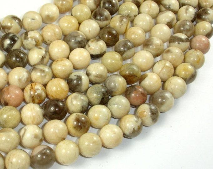 Feldspath Beads, Tiger Jasper Beads, 10mm Round Beads, 16 Inch, Full strand, Approx 40 beads, Hole 0.8 mm, AA quality (424054005)