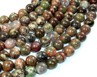 Rainforest Agate Beads, 10mm(10.5mm) Round Beads, 15 Inch, Full strand, Approx 37 beads, Hole 1 mm, A quality (390054006)