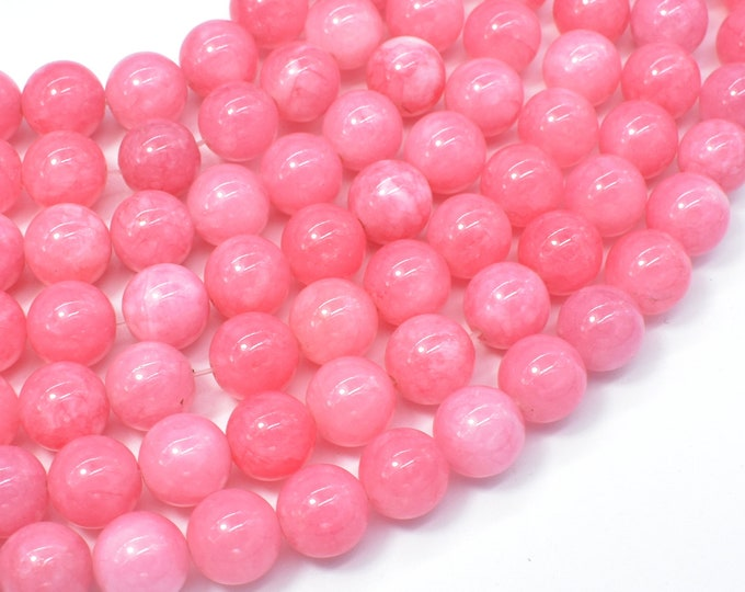 Jade Beads-Pink, 10mm Round Beads, 15 Inch, Full strand, Approx 38 beads, Hole 1mm (211054197)