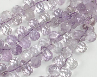 Amethyst Beads Faceted Teardrop 5mm x 8mm-15.5 Inch, 1 strand, About 120 beads, Hole 1mm (115026003)
