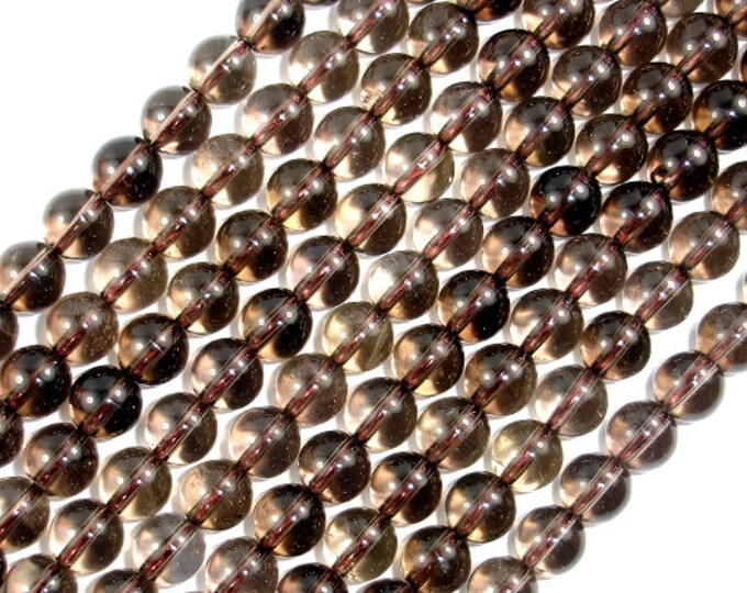 Smoky Quartz Beads, Round, 8mm(8.2mm), 15.5 Inch, Full strand, Approx 47 beads, Hole 1mm (408054003)