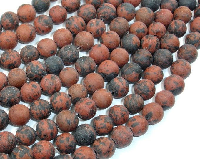 Matte Mahogany Obsidian, 8mm (8.5 mm) Round Beads, 15.5 Inch, Full strand, Approx 46 beads, Hole 1 mm (311054007)