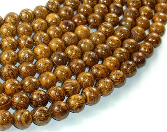 Elephant Jasper Beads, 10mm(10.5mm) Round Beads, 15.5 Inch, Full strand, Approx 40 beads, Hole 1 mm, A+ quality (215054005)