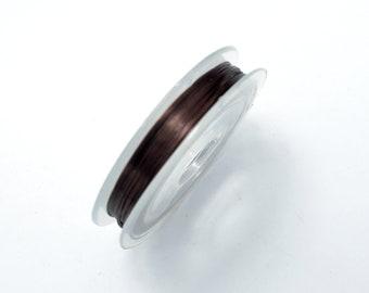 2Rolls Dark Brown Stretch Elastic Beading Cord, 0.5mm, 2 Rolls-20 Meters (006875007)