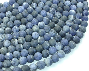 Matte Sodalite Beads, Round, 8mm (8.2mm), 15 Inch, Full strand, Approx 49 beads, Hole 1 mm, A quality (411054013)