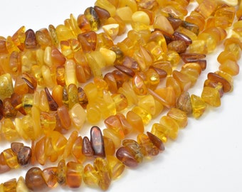 Amber Beads, Chips, Approx 8-12mm, 16 Inch, Full strand, Hole 0.8mm (113005001)