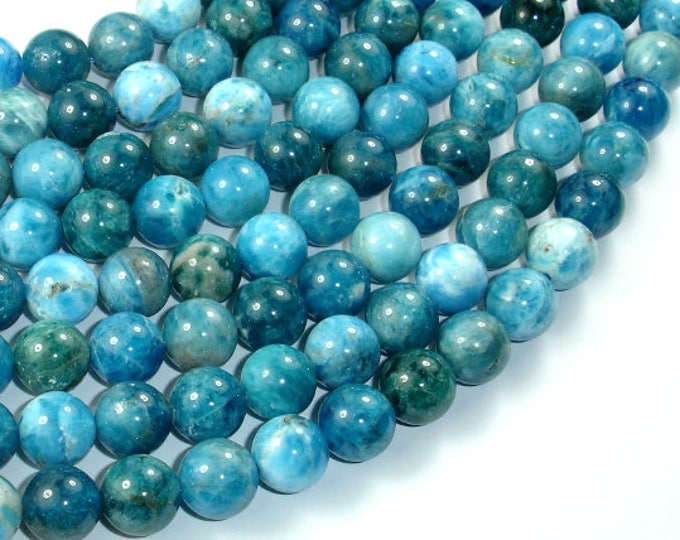 Apatite Beads, 10mm Round Beads, 15.5 Inch, Full strand, Approx 40 beads, Hole 1mm (120054014)