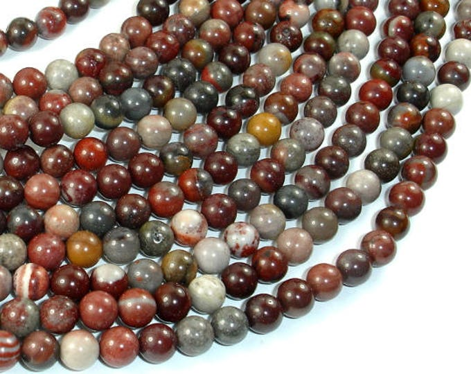 Fantasy Jasper Beads, 6mm(6.3mm) Round Beads, 15.5 Inch, Full strand, Approx 65 beads, Hole 1 mm, A quality (246054001)