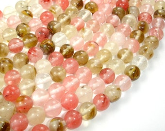 Fire Cherry Quartz Beads, Round, 8mm (8.5 mm), 15.5 Inch, Full strand, Approx 48 beads, Hole 1 mm (422054002)