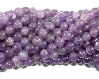 Amethyst Beads, 6mm(6.5mm) Round Beads, 15.5 Inch, Full strand, Approx 62-65 beads, Hole 0.8mm (115054042)