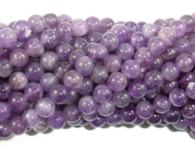 Featured listing image: Amethyst Beads, 6mm(6.5mm) Round Beads, 15.5 Inch, Full strand, Approx 62-65 beads, Hole 0.8mm (115054042)