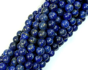 Natural Lapis Lazuli, 6mm Round Beads, 15 Inch, Full strand, Approx 64-66 beads, Hole 1mm (298054012)