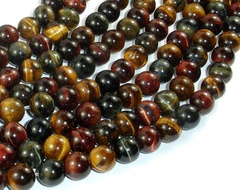 Tiger Eye Beads, 3 color, 8mm (8.4mm), 15 Inch, Full strand, Approx 46 beads, Hole 1mm (426054033)