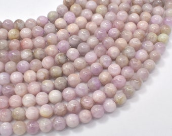 Kunzite Beads, 6mm (6.3mm) Round Beads, 15.5 Inch, Full strand, Approx 60-64 beads, Hole 0.8mm (293054004)