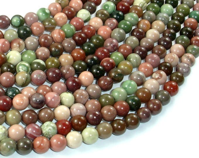 Imperial Jasper Beads, 6mm(6.2mm) Round Beads, 15.5 Inch, Full strand, Approx 65 beads, Hole 1mm, A+ quality (279054002)