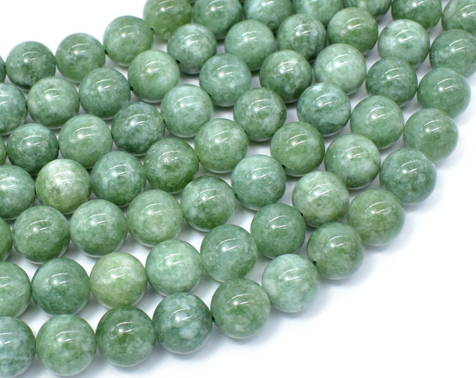 Malaysia Jade Beads- Burma Color, 10mm Round Beads, 15 Inch, Full strand, Approx 38 beads, Hole 1mm, A quality(211054181)