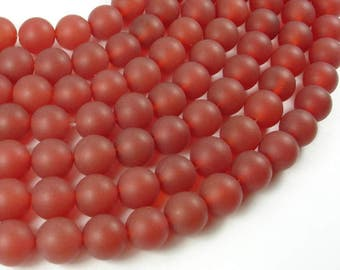 Matte Carnelian Beads, 10mm(10.5mm) Round Beads, 15.5 Inch, Full strand, Approx 38 beads, Hole 1 mm, A quality (182054027)