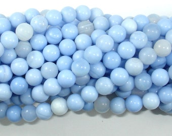 Light Blue Agate Beads, 6mm Round Beads, 15 Inch, Full strand, Approx 63 beads, Hole 1mm (122054209)