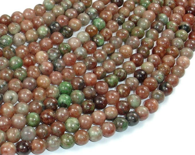 Kashgar Garnet, 6mm Round Beads, 15.5 Inch, Full strand, Approx 65 beads, Hole 0.8mm, A quality (291054001)