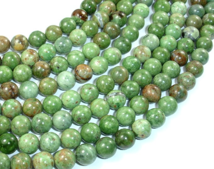 Green Opal, 8mm Round Beads, 15.5 Inch, Full strand, Approx 49 beads, Hole 1 mm, A quality (259054006)