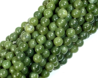 Canadian Jade Beads, 6mm Round Beads, 15.5 Inch, Full strand, Approx 64 beads, Hole 1mm, A quality (179054003)
