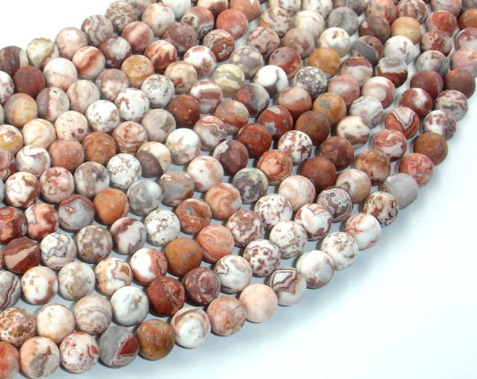 Matte Mexican Crazy Lace Agate Beads, 6mm(6.3mm) Round Beads, 15.5 Inch, Full strand, Approx 65 beads, Hole 1mm, A quality (202054018)