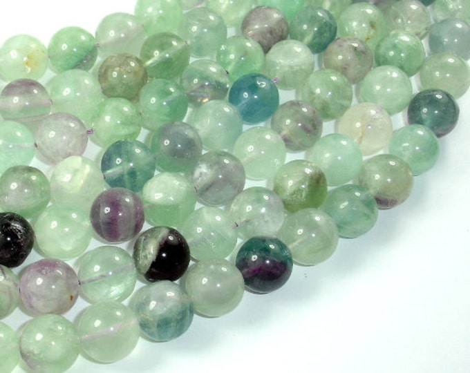 Fluorite Beads, 12mm Round Beads, 16 Inch, Full strand, Approx 34 beads, Hole 1.2mm (224054022)